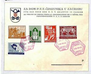 Yugoslavia 1940 Zagreb Cover {samwells-covers}CU61