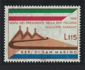 San Marino Visit of President Saragat of Italy SG#787