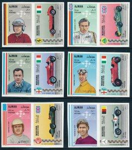 Ajman - Sports Car Racing Set - MNH Imperf Stamps (1969)
