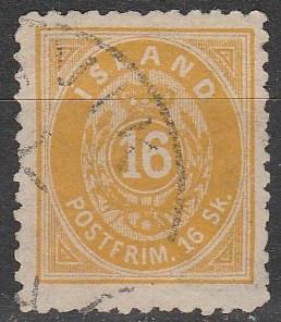 Iceland #7 F-VF Used CV $850.00 (D2105)