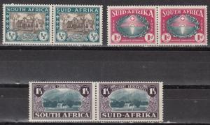 South Africa Scott B9-11 Mint hinged (Catalog Value $51.50)