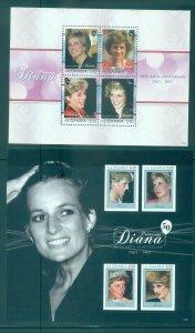 Gambia - Sc# 3339-40. 2011 50th Ann. Birth of Princess Diana. MNH. $18.00.