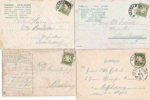 4 OLD  BAVARIA  POST CARDS  . REF R713