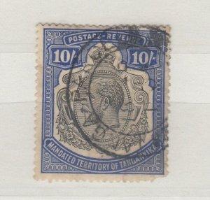 Tanganyika KGV 1927 10/- Blue SG106 VFU J8451