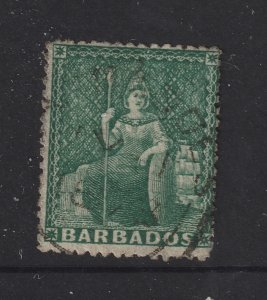 Barbados a QV 0.5d green from 1873