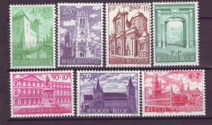 J21344 Jlstamps 1962 belgium set mh #b705-11 buildings