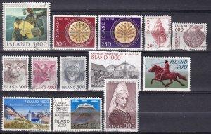 Iceland #548, 550-3, 556-63  F-VF Used  CV $9.00  (Z6428)