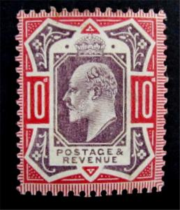 Great Britain Scott 137 KEVII  CV$100 MH* Magnificent