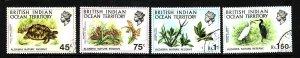 BIOT-Sc#39-42- id2-used set-Birds-Turtles-1971-