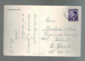 1944 Prague B&M  Arbeitslager Lelov Flugwerke Slave Labor Camp Postcard Cover