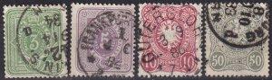 Germany #37-9, 42 F-VF Used  CV $6.50 (Z5004)