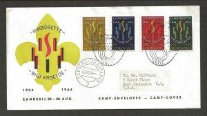 1964 Surinam 40th anniversary Boy Scouts FDC