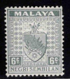 MALAYA Negri Sembilan Scott 25A MH* coat of arms stamp