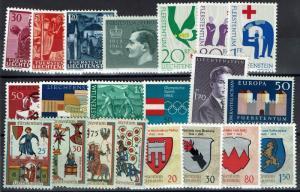 Liechtenstein 21 1960s Mint--Mostly Never Hinged, few faults - C51