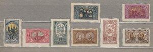 LITHUANIA CENTRAL 1921 Definitive set MH(*) Mi 34-41 #HS36
