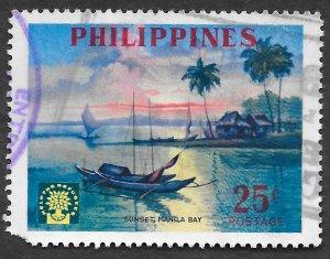 Philippines Scott 818 25c Sunset on Manila Bay (1960) Used
