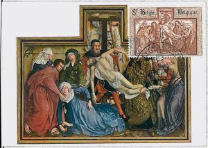MAXIMUM CARD : ART Religion -  BELGIUM 1964