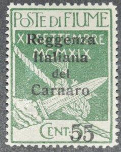 DYNAMITE Stamps: Fiume Scott #116 – MINT