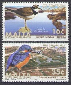 1999 Malta 1065-1066 Europa Cept / Birds