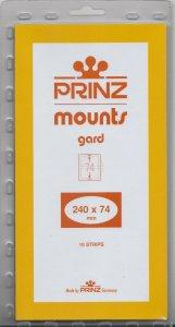 PRINZ 240X74 (10) CLEAR MOUNTS RETAIL PRICE $9.50