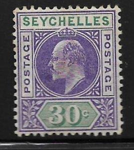 SEYCHELLES, 58,  HINGED, KING GEORGE V