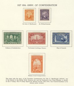 6x Confederation Stamps #141 to 145 MH F/VF. Guide Value = $58.00