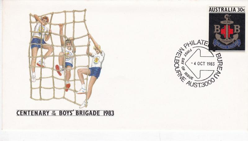 Australia 1983 Centenary of Boys Brigade FDC Unadressed VGC