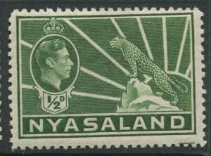 STAMP STATION PERTH Nyasaland #54 KGV1938 MLH CV$0.25.