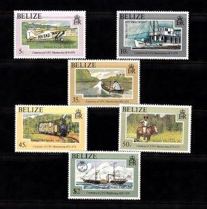 BELIZE SC# 410-415 MNH