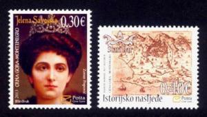 Montenegro Sc# 351-2 MNH Princess Elena / Map