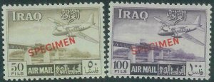 88737 - IRAQ - MNH STAMPS - Yvert AIRMAIL 1/8 overprinted SPECIMEN - TRAINS