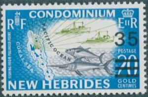 New Hebrides 1970 SG144 35c on 20c Ocean Fishing MNH
