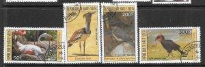 Burkina Faso #C292-C295 Local Birds set complete (CTO) CV $5.45
