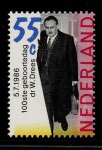 Netherlands Sc 684 1986 Willem Drees stamp mint NH