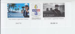 2014 FSAT Fr Antarctic Gendarmerie S2 w/label (Scott 512) NH