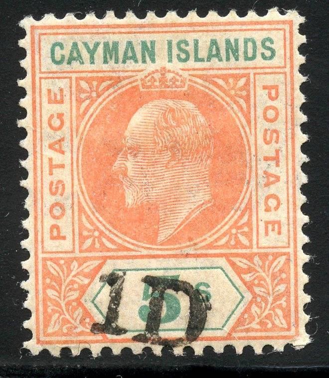 CAYMAN ISLANDS SCOTT# 19 SG# 19 MINT HINGED AS SHOWN