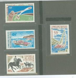 Afars & Issas 343-347 Mint VF LH (no 345)