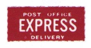 UNITED KINGDOM VINTAGE 1937 POST OFFICE EXPRESS DELIVERY MNH LABEL