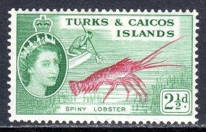 Turks & Caicos  1957   sg 240   2 1/2d  -  value  MM