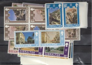 Gibraltar QEII 1971 Decimal Blocks (Mainly 6 Some 4 and 2 ) SG255/286 MNH J7539