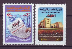 J20801 Jlstamps 1989 uae set mnh #285-6 newspaper
