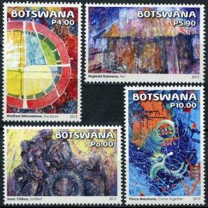 Botswana 2015. Abstract Art in Botswana (MNH OG) Set of 4 stamps