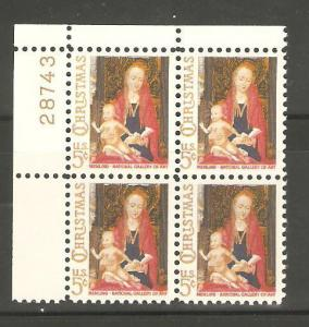 1321 Madonna & Child Plate Block Mint/n FREE SHIPPING