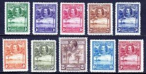 Sierra Leone - Scott #140//149 - MH - SCV $13.25