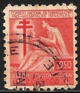 Cuba 1950 Postal Tax Scott# RA10 Used