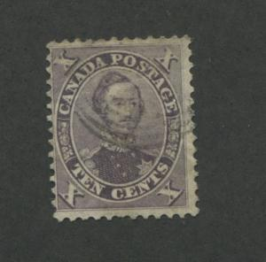 1859 Canada Stamp #17a 10p Used F/VF Faded Postal Cancel