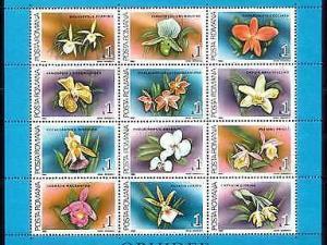 [79951] Romania 1988 Flora Flowers Blumen Orchids Souvenir Sheet MNH