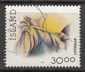 Iceland SC# 711b  1994 Weight Lifting used