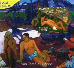 Sao Tome and Principe 2005 PAUL GAUGUIN Nudes Paintings s/s Imperforated Mint NH