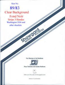 Showgard Stamp Mount 89/83 CLEAR Background Pack of 3